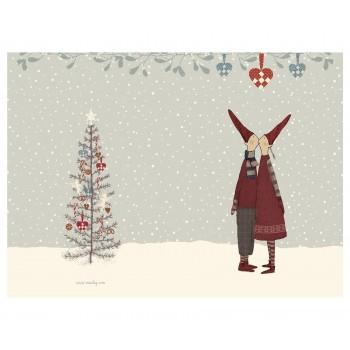 Postal Duendes  de Navidad