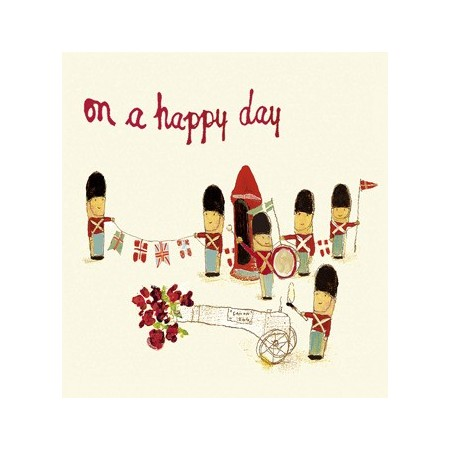 """On a Happy Day"" Postcard"