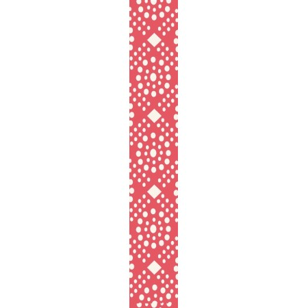 Red dotted narrow ribbon
