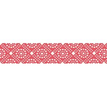 Cinta roja topitos ancha