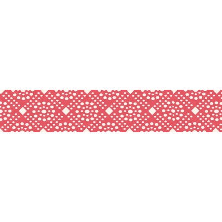 Red dots wide ribbon