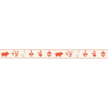 Christmas motif wide ribbon