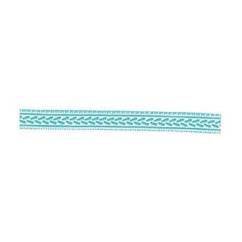 Turquoise jaquard Ribbon