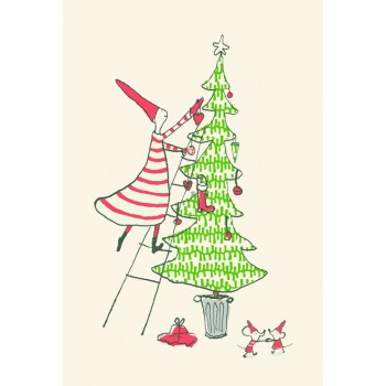 Christmas motifs card