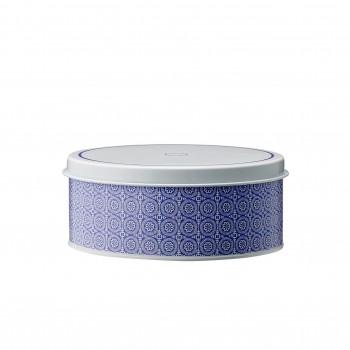 Caja  de lata violeta