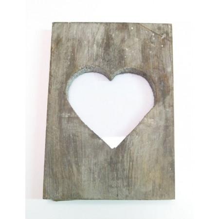 Marco de madera corazón