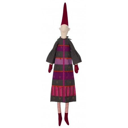 Dark grey dress Pixy Elf advent calendar (XL)