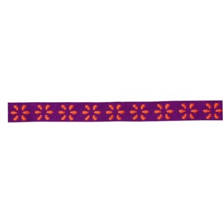 Orange flowers purple Ribbon