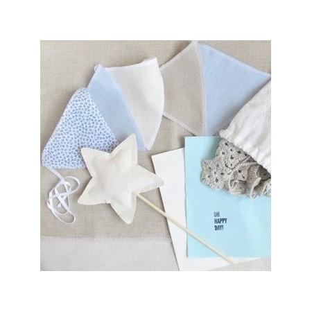 Platos de papel Flores azules