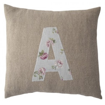 Custom made initial cushion