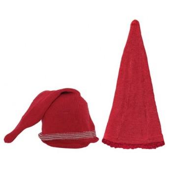 Gorro Navidad de punto rojo