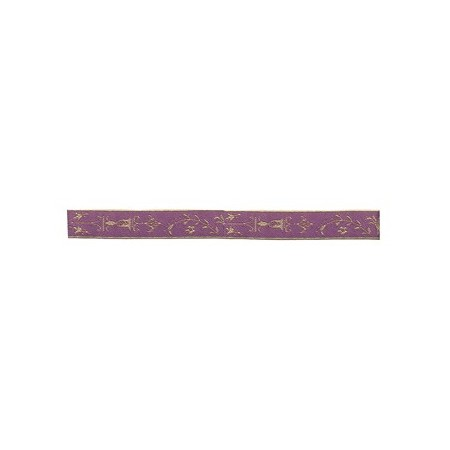 Purple Flowers Ribbon