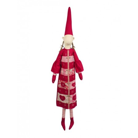 Pixy Elf girl red dress advent calendar (XL)