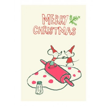 Double Merry Christmas Postcard
