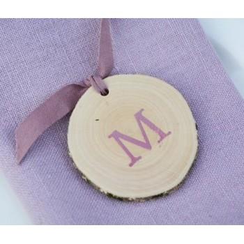 Medallón de madera inicial (4 u.)