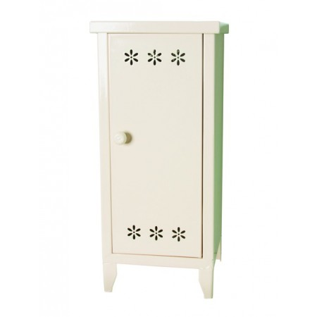 White metal cabinet