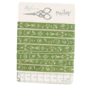 Green flowers Ribbon