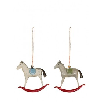 Christmas Metal Horse Ornament