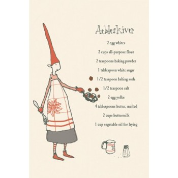 Postal duende cocinero (doble)
