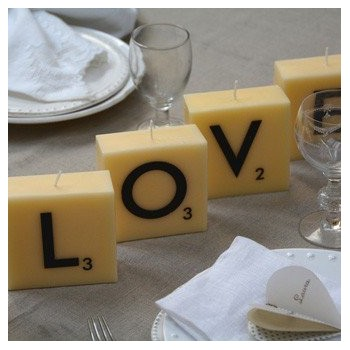 Vela  abecedario  LOVE