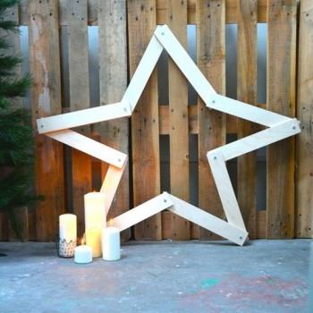 Estrella de madera plegable