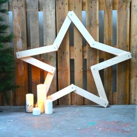 Wooden Folding Star