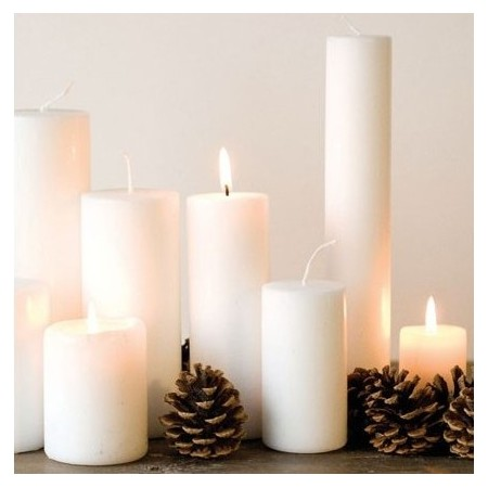 White Candle 6x10