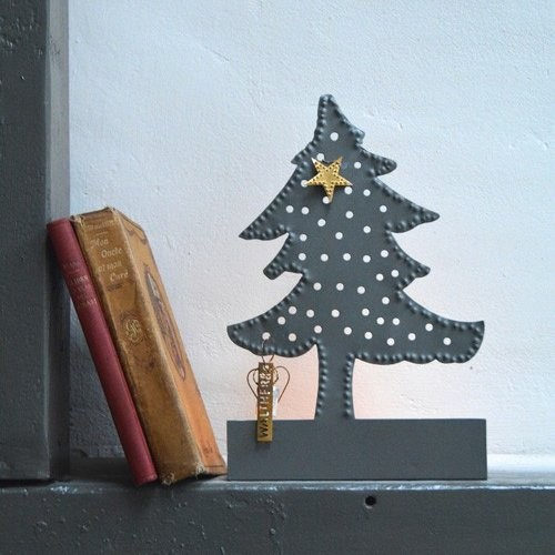 Zinc Christmas tree candle holder
