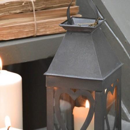 Lámpara Portavelas de zinc