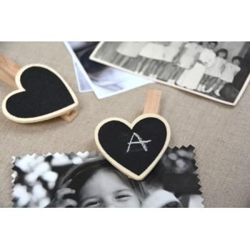 Clamp heart chalkboard