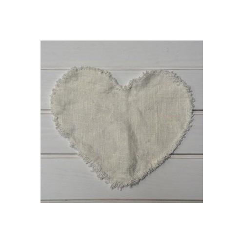 Linen heart Tablemat