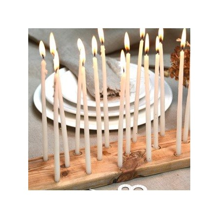 White Birthday Candle