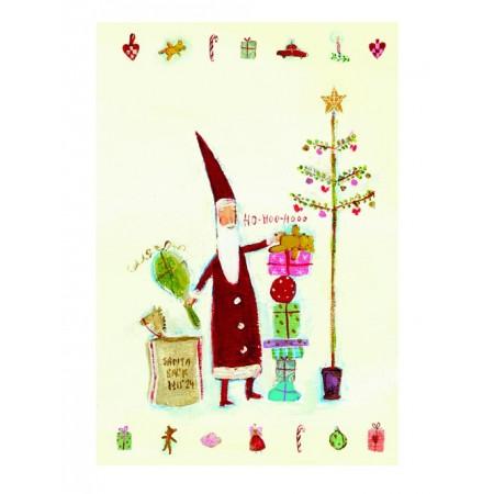 Postal Santa Claus doble