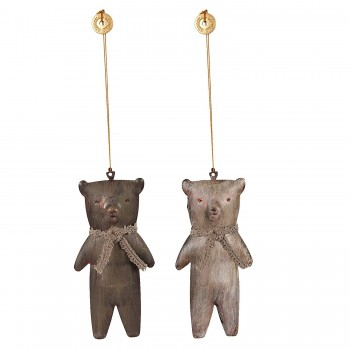 Metal, Teddy Bear, Ornament