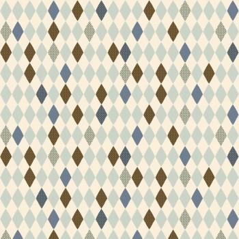 Rollo de papel para envolver - Rombos azul