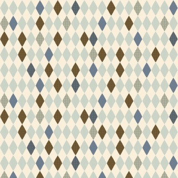 Wrapping paper - Harlekin blue