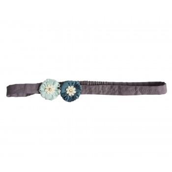 Hair band, mini flowers, Aqua