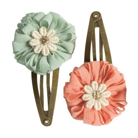 Horquilla clips mini flores.