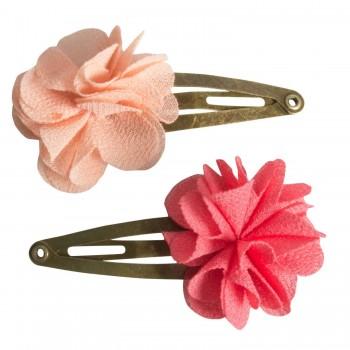 Hair clips, fluffy flower Rose (2u.)