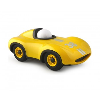 Coche amarillo Le Mans 17 cm