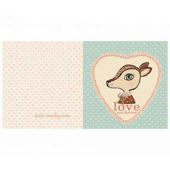 Bambi blue, double card