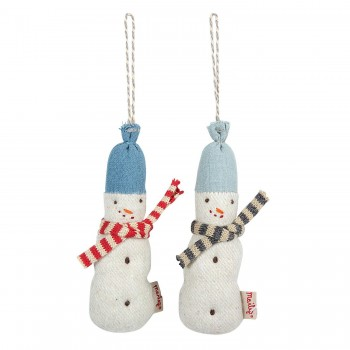 Snowman fabric ornament