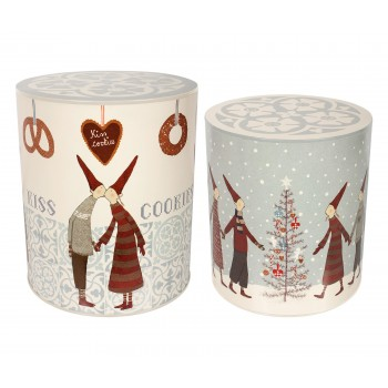 Cajas de lata Cookie Navidad 2u.