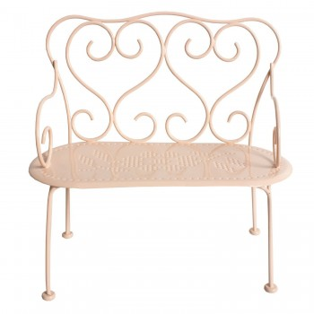 Romantic Metal Bench ( Mini), powder