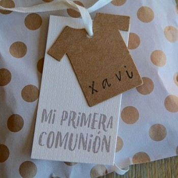 Personalized candy dress/shirt kraft favor  bag