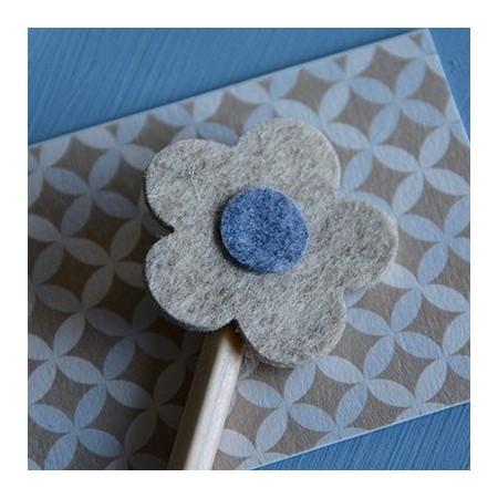 Car/flower felt pencil