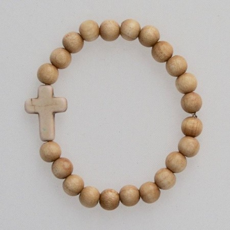 Cross and beads bracelet
