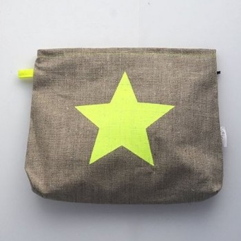 Basic-nature yellow neon-star bag