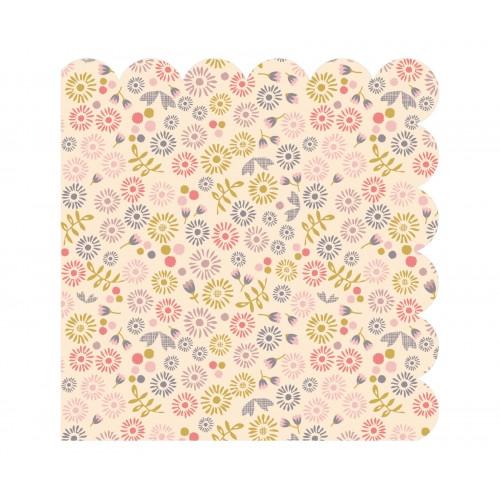 Flower paper napkins in blaubloom flower paper napkins mightylinksfo