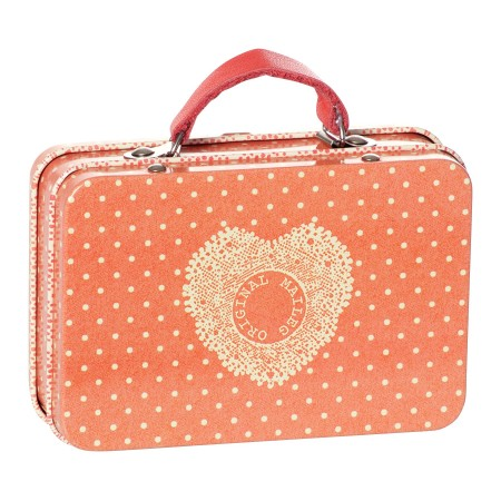 Metal orange dots suitcase